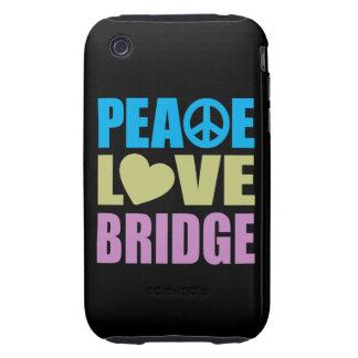 Peace Love Bridge Tough iPhone 3 Cover