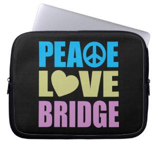 Peace Love Bridge Laptop Sleeve
