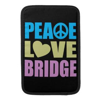 Peace Love Bridge MacBook Sleeves