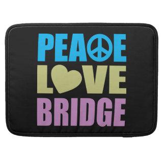 Peace Love Bridge Sleeve For MacBook Pro