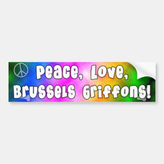 Peace Love Brussels Griffons Bumper Sticker