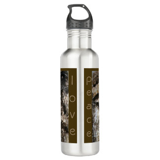 Peace Love Buddha Watercolor Art Water Bottle 710 Ml Water Bottle