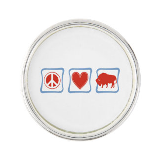 Peace Love Buffalo squares Lapel Pin