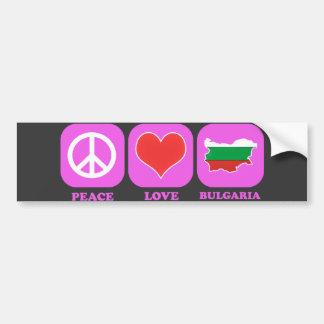 Peace Love Bulgaria Bumper Stickers