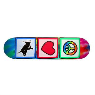 Peace, Love, Bull Riding Skate Board Decks