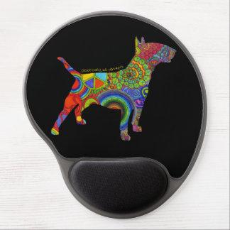 """Peace Love & Bull Terriers"" Pop Art Mousepad Gel Mouse Mats"
