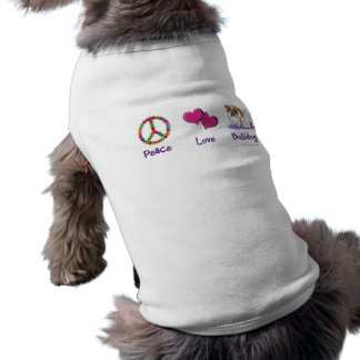 Peace Love Bulldog shirt