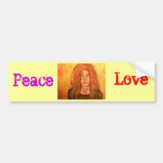 Peace Love                            ... Bumper Sticker
