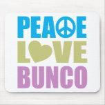 Peace Love Bunco Mouse Pad