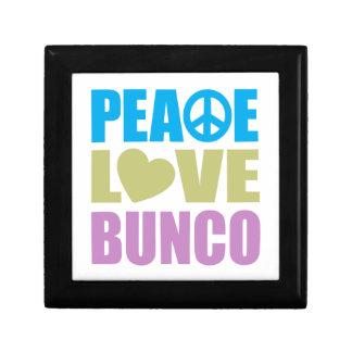 Peace Love Bunco Small Square Gift Box
