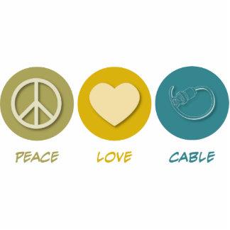 Peace Love Cable Photo Cutouts