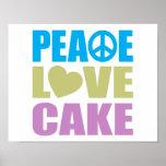 Peace Love Cake Poster
