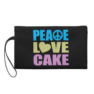 Peace Love Cake Wristlet Purses