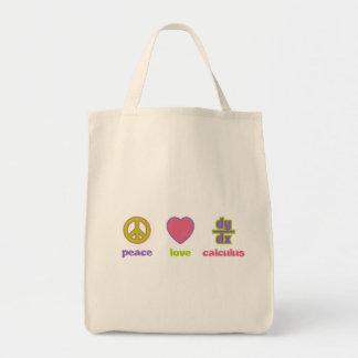 Peace, Love & Calculus Bags