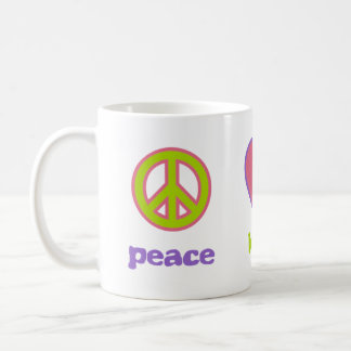 Peace, Love & Calculus Basic White Mug