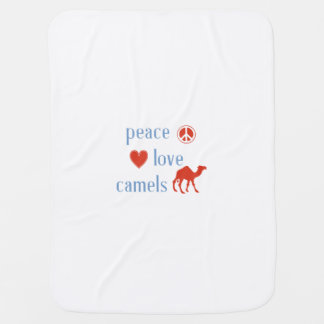 Peace Love Camels Baby Blankets