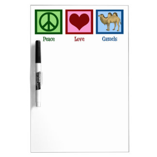 Peace Love Camels Dry Erase Board