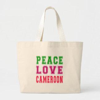 Peace Love Cameroon Canvas Bag