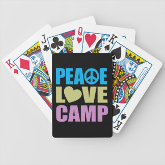 Peace Love Camp Bicycle Playing Cards
