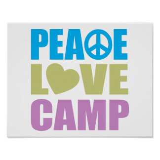 Peace Love Camp Poster
