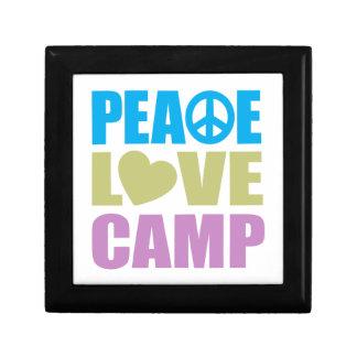 Peace Love Camp Small Square Gift Box