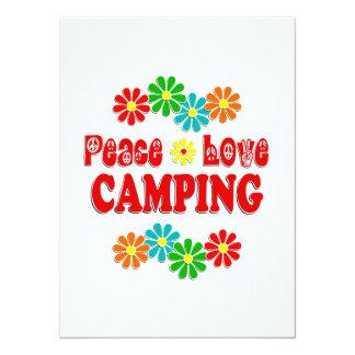 Peace Love Camping 14 Cm X 19 Cm Invitation Card
