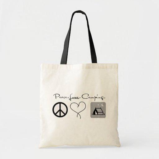 Peace. Love. Camping. Bags