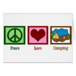 Peace Love Camping Greeting Card