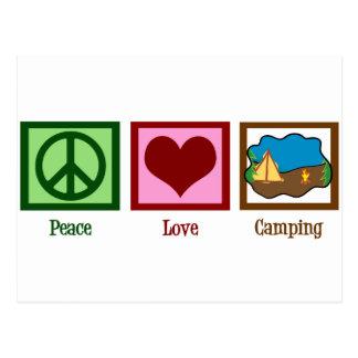 Peace Love Camping Postcard