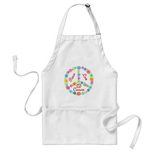 Peace Love Cancer Aprons