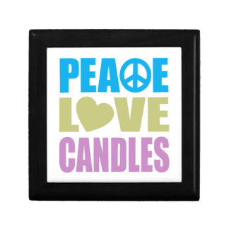 Peace Love Candles Small Square Gift Box