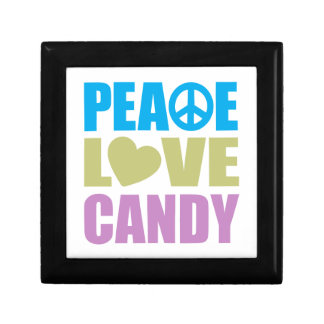 Peace Love Candy Small Square Gift Box