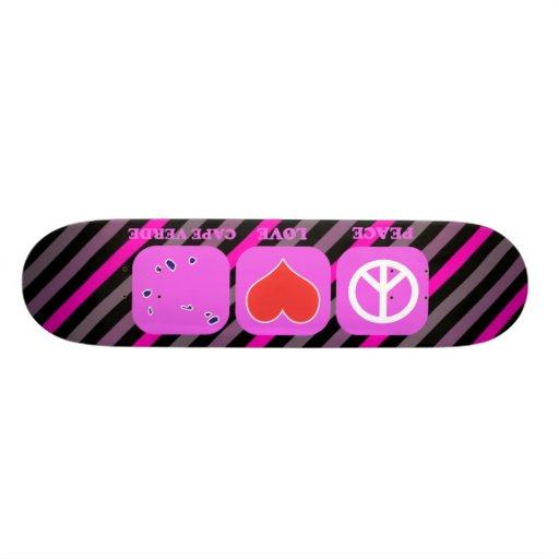 Peace Love Cape Verde Skate Board Deck