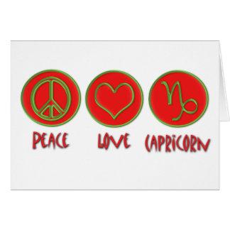 Peace Love Capricorn Card