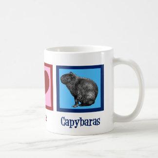 Peace Love Capybaras Coffee Mug