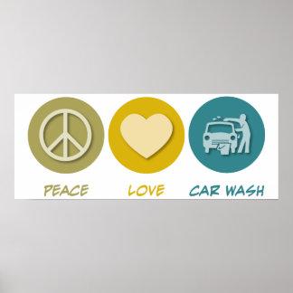 Peace Love Car Wash Poster