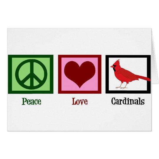 Peace Love Cardinals Card