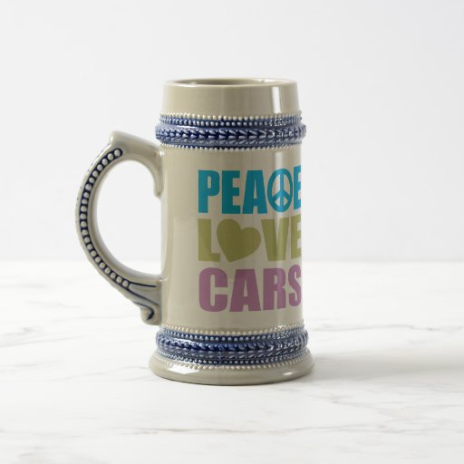 Peace Love Cars Mugs