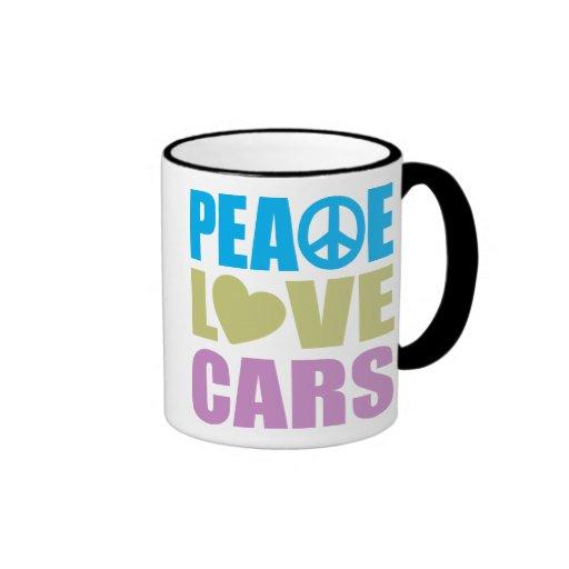 Peace Love Cars Coffee Mugs