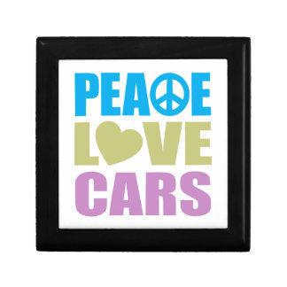 Peace Love Cars Small Square Gift Box