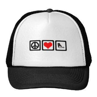 Peace love cat trucker hat