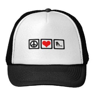 Peace love cat mesh hat