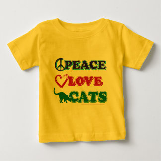 Peace-Love-Cats Baby T-Shirt