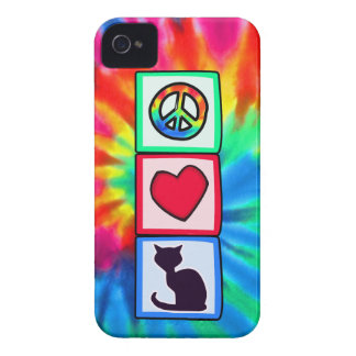 Peace, Love, Cats Case-Mate iPhone 4 Cases