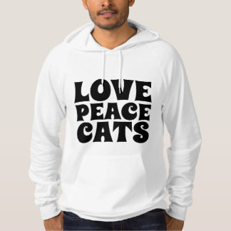 PEACE LOVE CATS, Cat Lover T-shirts & hoodies