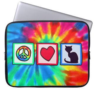 Peace, Love, Cats Laptop Sleeve