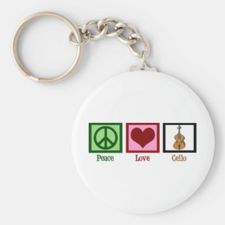 Peace Love Cello Key Ring
