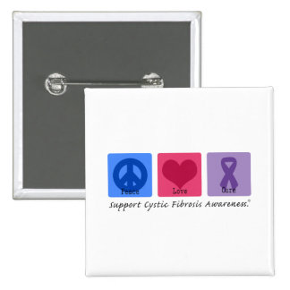 Peace Love CF 15 Cm Square Badge