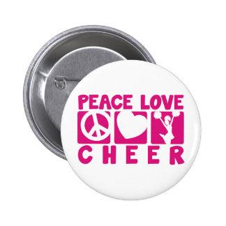 Peace Love Cheer 6 Cm Round Badge
