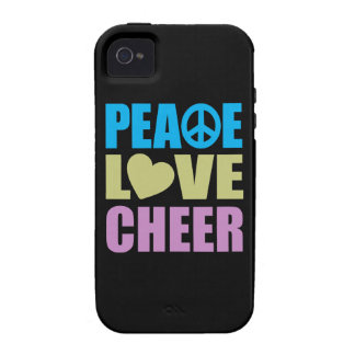 Peace Love Cheer iPhone 4/4S Covers